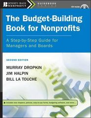 The Budget-Building Book for Nonprofits 2nd edition 9780787996031 0787996033