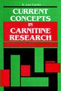 Current Concepts in Carnitine Research 1st edition 9780849301865 0849301866