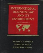 International Business Law and Its Environment 4th edition 9780538884839 0538884835