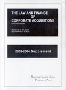 The Law and Finance of Corporate Acquisitions 2nd edition 9781587784378 1587784378