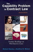 Capability Problem in Contract Law, 2004 2nd edition 9781587787324 1587787326