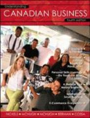 Understanding Canadian Business 4th edition 9780070894341 0070894345
