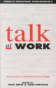 Talk at Work 0 9780521376334 0521376335