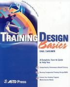 Training Design Basics 1st Edition 9781562863487 1562863487