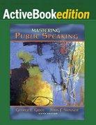 Mastering Public Speaking, ActiveBook Edition 6th edition 9780205594054 0205594050