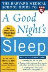 The Harvard Medical School Guide to a Good Night's Sleep 1st edition 9780071467438 0071467432