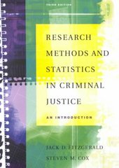 Research Methods and Statistics in Criminal Justice 3rd edition 9780534534370 0534534376