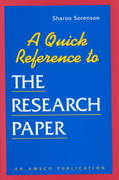 A Quick Reference to Research Paper 0 9781567650525 156765052X