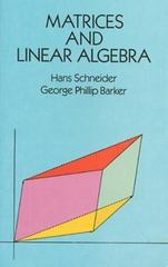 Matrices and Linear Algebra 2nd edition 9780486660141 0486660141