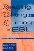 Reading, Writing, and Learning in ESL 2nd edition 9780801316289 0801316286