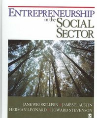 Entrepreneurship in the Social Sector 1st Edition 9781412951371 1412951372