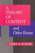 A Theory of Content and Other Essays 0 9780262560696 0262560690