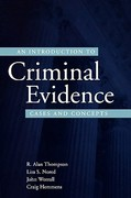An Introduction to Criminal Evidence 1st Edition 9780195332568 0195332563