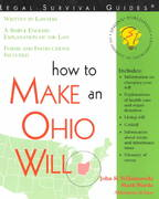 How to Make an Ohio Will 2nd edition 9781572481732 1572481730