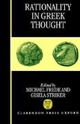 Rationality in Greek Thought 0 9780198240440 0198240449