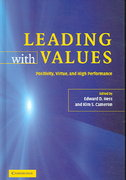 Leading with Values 1st Edition 9780521686037 0521686032