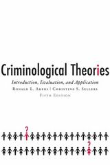 Criminological Theories 5th edition 9780195332520 0195332520