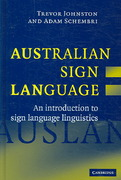 Australian Sign Language (Auslan) 1st Edition 9780511266850 0511266855