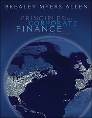 Principles of Corporate Finance 9th edition 9780073405100 0073405108