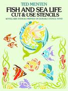 Fish and Sea Life Cut and Use Stencils 0 9780486244365 0486244369