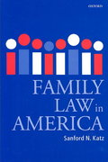 Family Law in America 0 9780199264346 0199264341