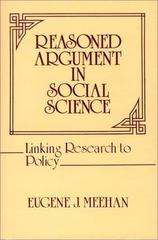Reasoned Argument in Social Science 0 9780313224812 0313224811