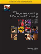 Gregg College Keyboarding & Document Processing (GDP), Word 2007 Update, Kit 3, Lessons 1-120 w/Home Software 2.0 10th Edition 9780077260569 0077260562
