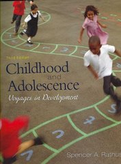 Childhood and Adolescence 3rd edition 9780495503903 0495503908