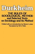 Rules of Sociological Method 0 9780029079409 0029079403