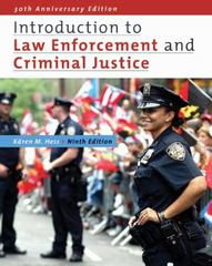 Introduction to Law Enforcement and Criminal Justice 9th edition 9781111804169 1111804168