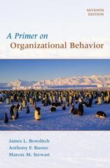 A Primer on Organizational Behavior 7th Edition 9780470086957 0470086955