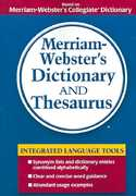 Merriam-Webster's Dictionary and Thesaurus 1st Edition 9780877796404 0877796408
