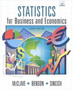 Statistics for Business and Economics 8th edition 9780130272935 0130272930