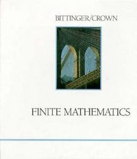 Finite Mathematics 3rd edition 9780201108149 0201108143