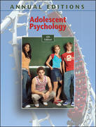 Annual Editions: Adolescent Psychology, 6/e 6th Edition 9780073397580 007339758X