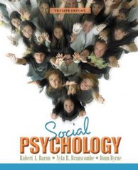 Social Psychology 12th edition 9780205581498 0205581498