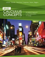 Calculus Concepts 4th edition 9780618789825 0618789820