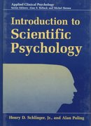 Introduction to Scientific Psychology 0 9780306457289 0306457288