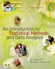An Introduction to Statistical Methods and Data Analysis 6th Edition 9781111779986 1111779988