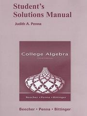 Student Solutions Manual for College Algebra 3rd edition 9780321459183 0321459180