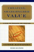 Creating Shareholder Value 2nd Edition 9780684844107 0684844109
