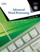 Advanced Word Processsing, Lessons 61-120 17th edition 9780538730259 0538730250