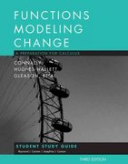 Student Study Guide to accompany Functions Modeling Change 3e 3rd edition 9780470105597 0470105593