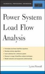 Power System Load Flow Analysis 1st edition 9780071447799 0071447792
