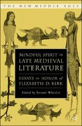 Mindful Spirit in Late Medieval Literature 1st Edition 9781137089519 1137089512