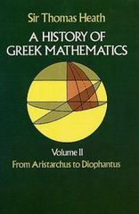 A History of Greek Mathematics 2nd edition 9780486240749 0486240746