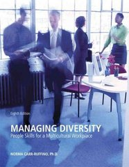 Managing Diversity 8th Edition 9780558333645 0558333648
