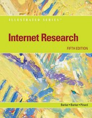 Internet Research - Illustrated 5th edition 9780538755986 0538755989