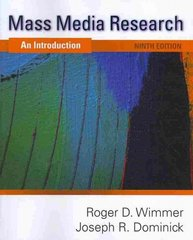 Mass Media Research 9th Edition 9781439082744 143908274X