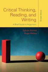 Critical Thinking, Reading, and Writing 7th Edition 9780312601607 0312601603